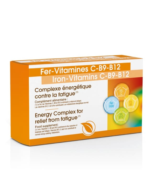 Fer Vitamines C & B12