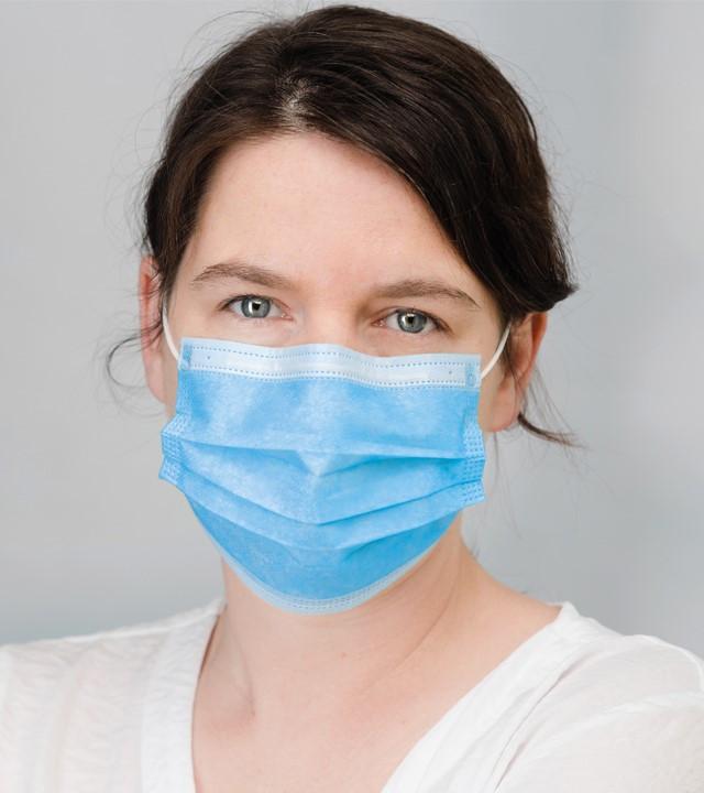 Application masque de protection 3 plis triple couches