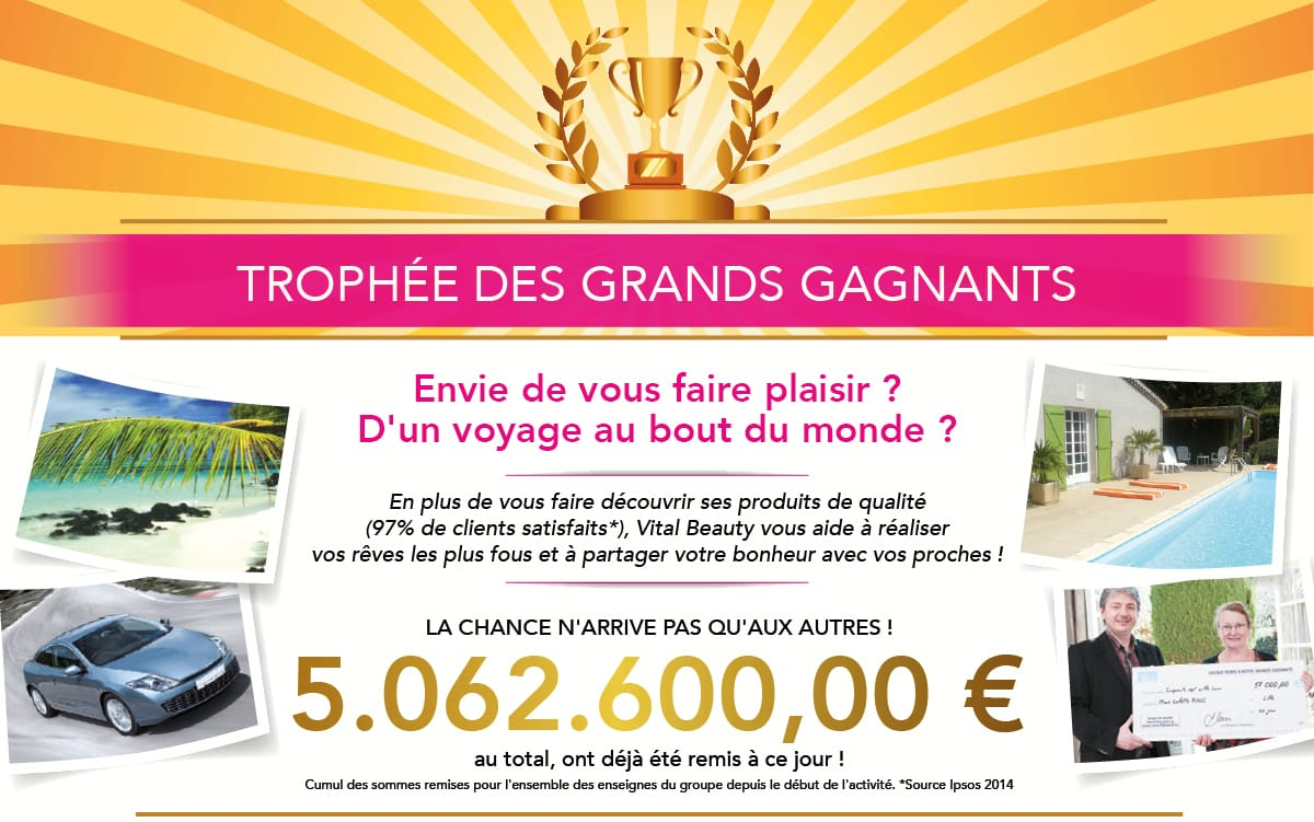 Les grands Gagnants Vital Beauty