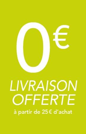Livraison gratuite dès 25€ d'achat